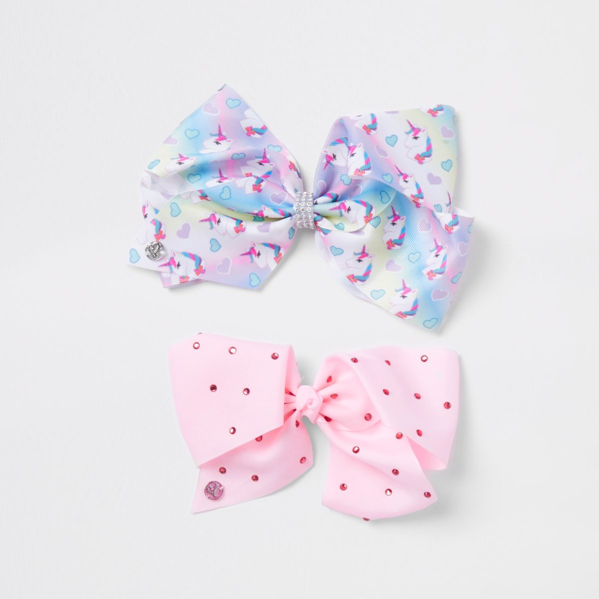 Girls pink unicorn Jojo bow pack