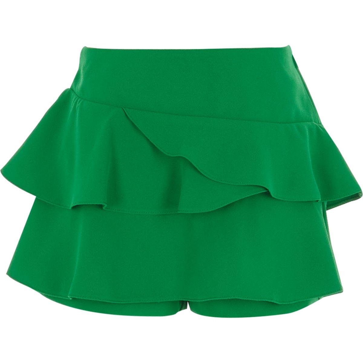 Green rara frill skort