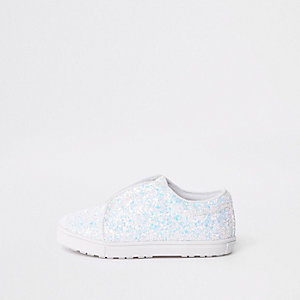 Mini - Witte gympen met glitter voor meisjes