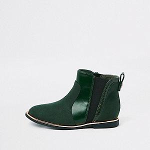 Mini - Groene laklaarzen met krokodillenreliëf voor meisjes