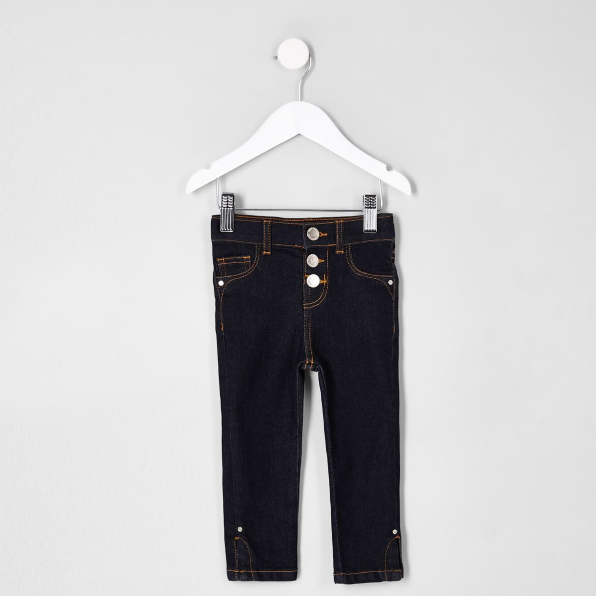 Mini girls dark blue Molly split hem jeans
