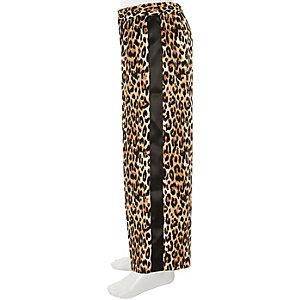 Palazzobroek met wijde pijpen en luipaardprint voor meisjes