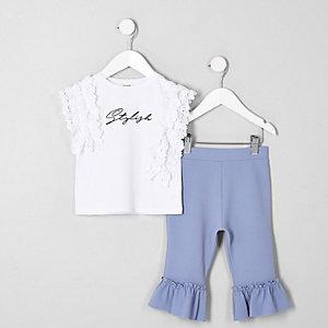 """Outfit mit weißem Spitzenoberteil """"stylish"""""""