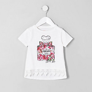 Mini girls white perfume bottle T-shirt