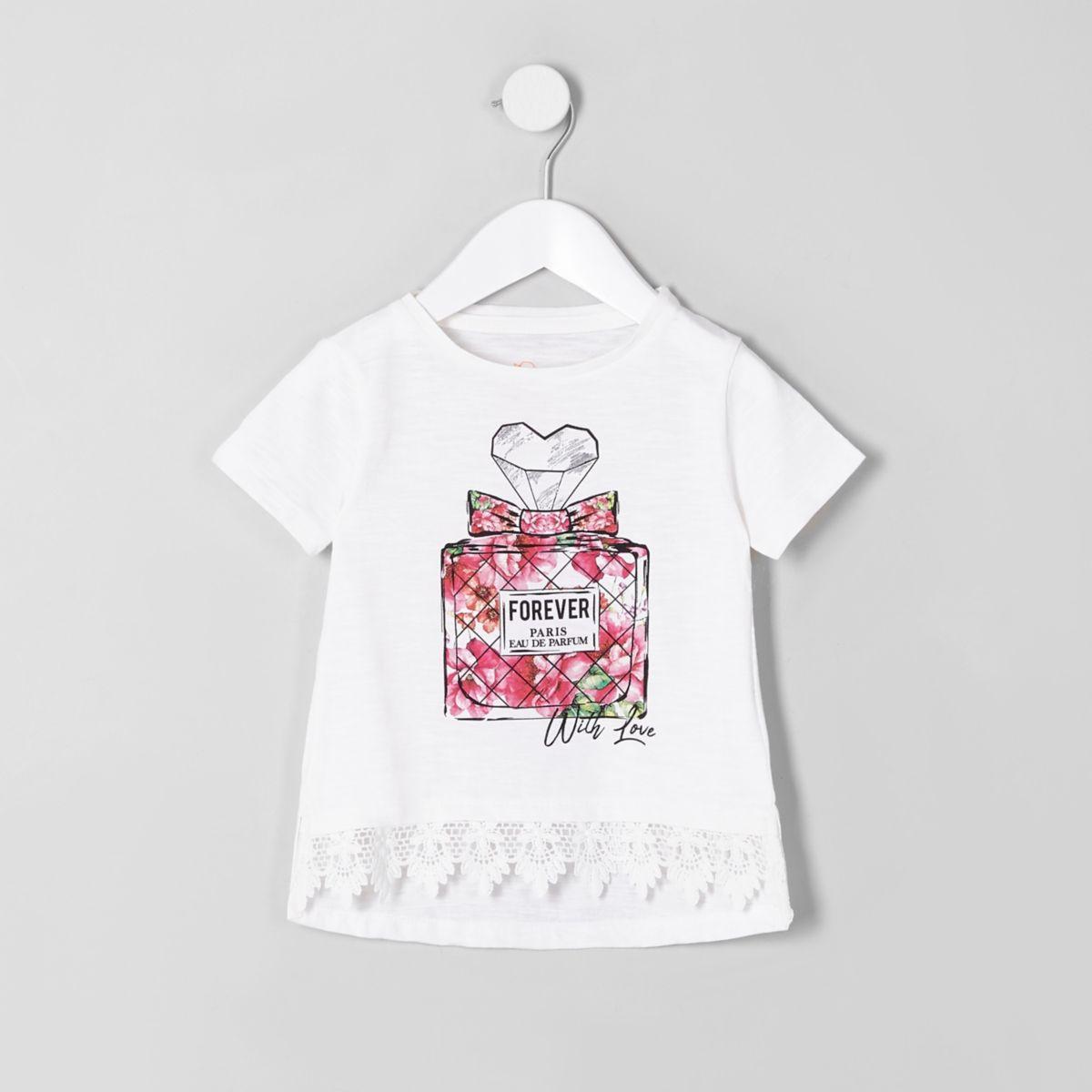 Mini girls white perfume bottle T-shirt