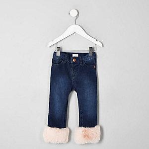 Mini - Amelie - Jeans met rand van imitatiebont voor meisjes