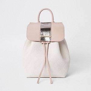 Rucksack mit Kordelzug in Pink-Metallic