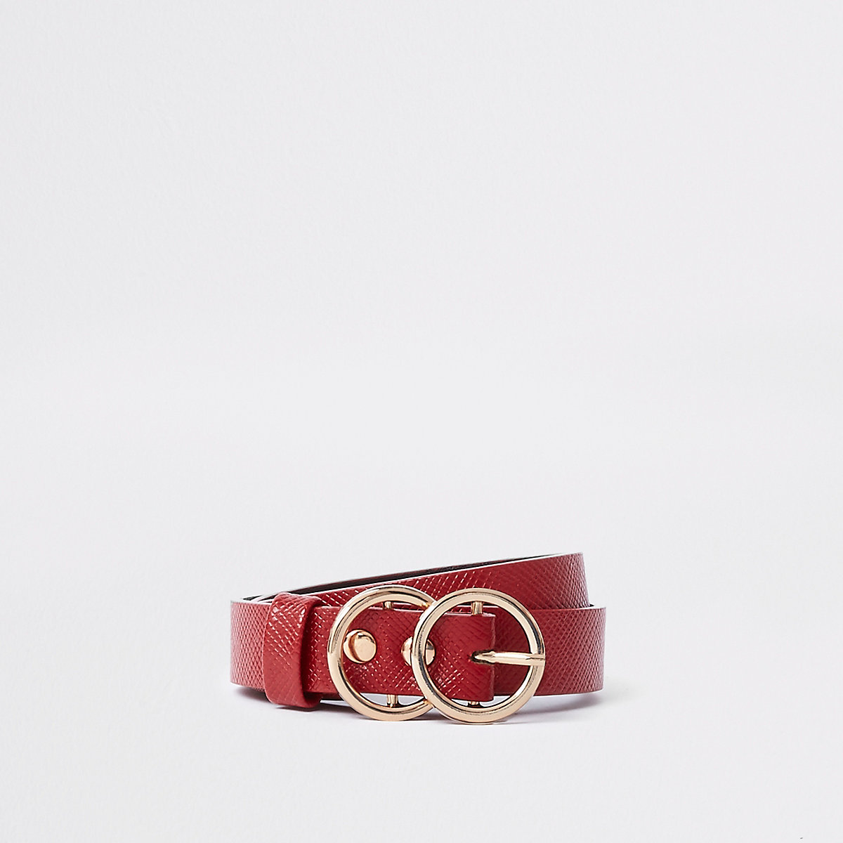 Girls red double circle belt