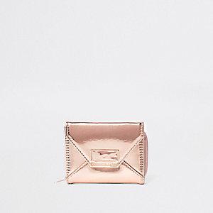 Goudkleurig metallic portemonnee voor meisjes