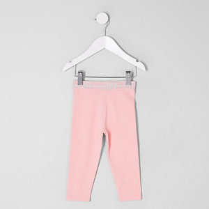 Mini girls pink RI branded leggings