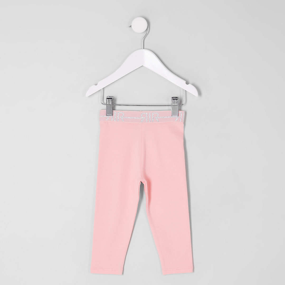 Mini girls pink RI branded leggings