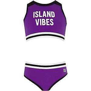 """Tankini in Lila """"Island Vibes"""""""