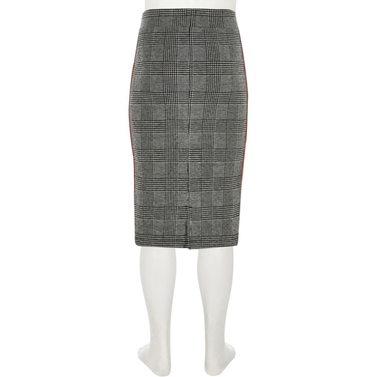 f02253b3e8 Girls grey check side stripe tube skirt - Skirts - Sale - girls