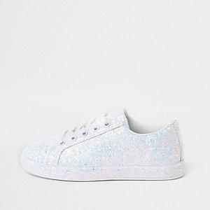 Witte gympen met glitter voor meisjes