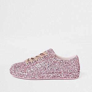 Roze glittergympen voor meisjes