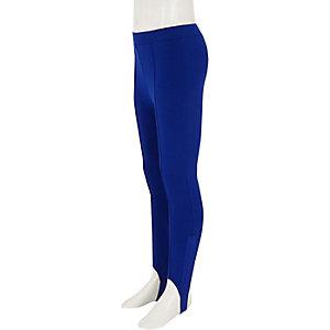 Legging fuseau bleu pour fille