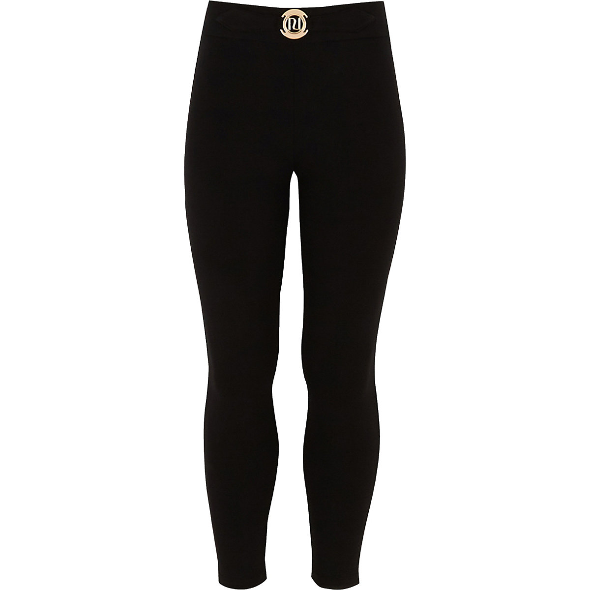 Girls black RI ponte leggings