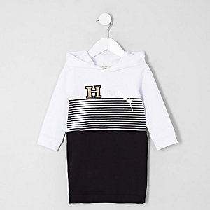 Mini girls black 'happiness' sweater dress