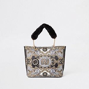 RI 30 – Schwarze Shopper-Tasche