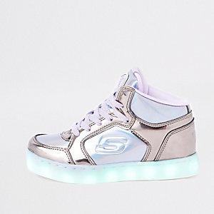 Skechers – Hohe Sneaker in Lila