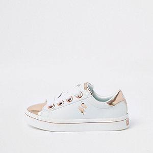 Skechers -Witte lakleren sneakers voor meisjes
