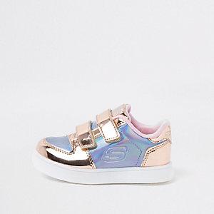 Mini - Skechers - Roze metallic sneakers voor meisjes