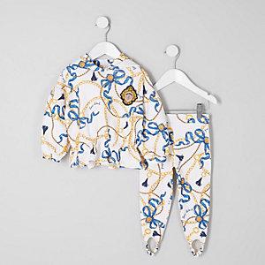 Mini - Outfit met hoodie met kettingprint vooe meisjes