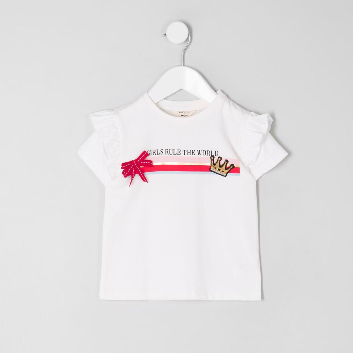 Mini girls 'rule the world' T-shirt