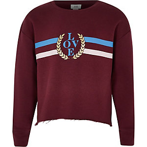 "Rotes Sweatshirt ""Love"""