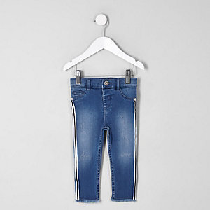 Mini girls Molly tape side mid rise jeans