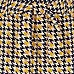 Girls brown dogtooth check wide leg trousers