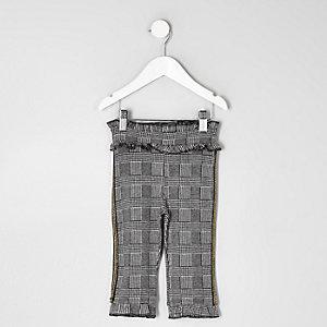 Mini - Grijze geruite broek voor meisjes