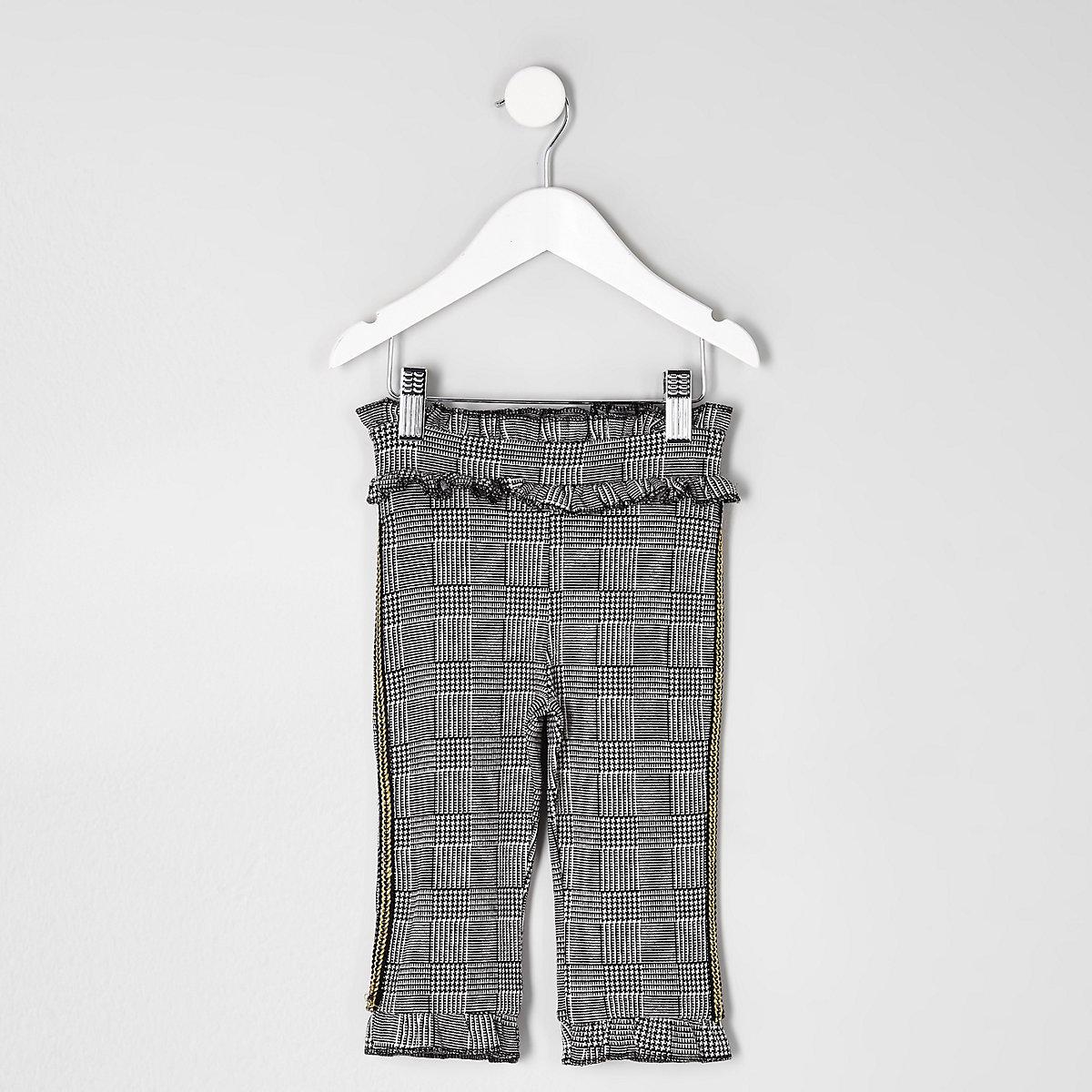 Mini girls grey check pant