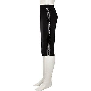 Jupe fourreau noire avec bande latérale imprimée RI pour fille