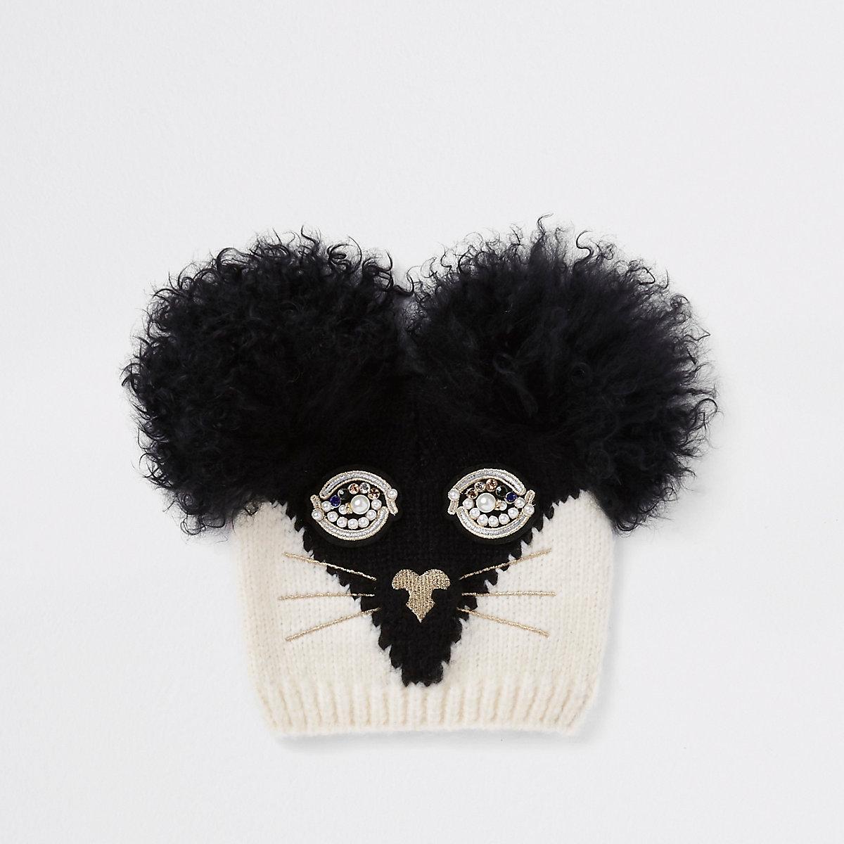 RI 30 – Bonnet tête de chat noir pour fille - Chapeaux - Accessoires ... 71653d12108