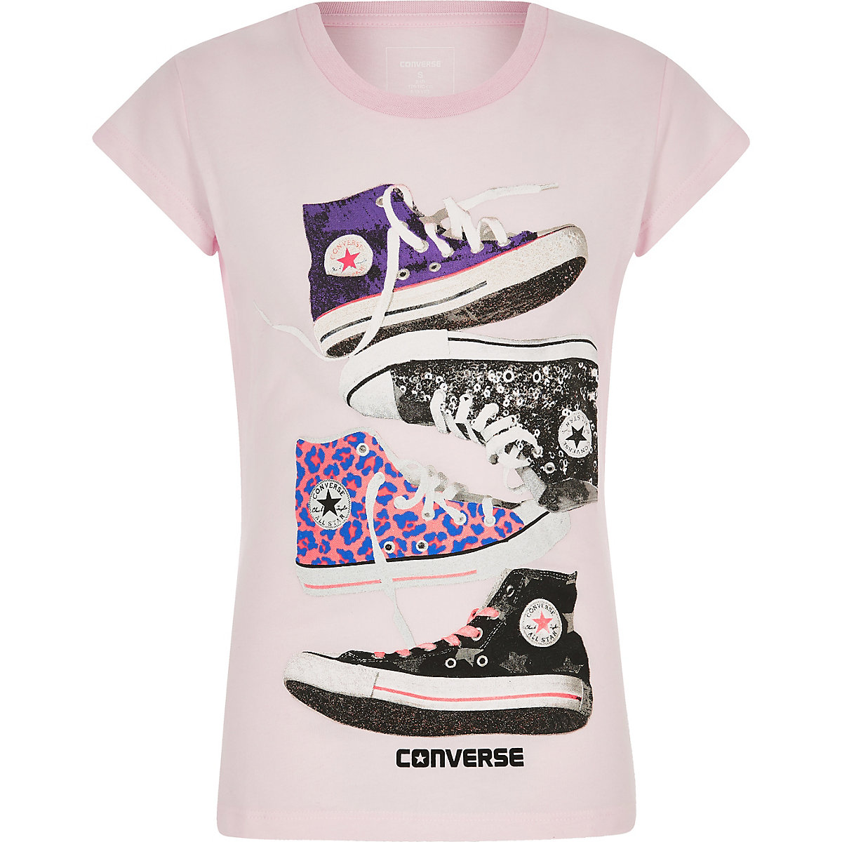Girls Converse pink chucks T-shirt