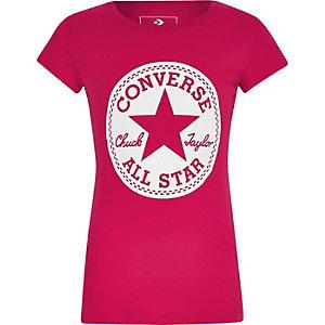 Converse – T-shirt «Chuck Taylor» rose pour fille