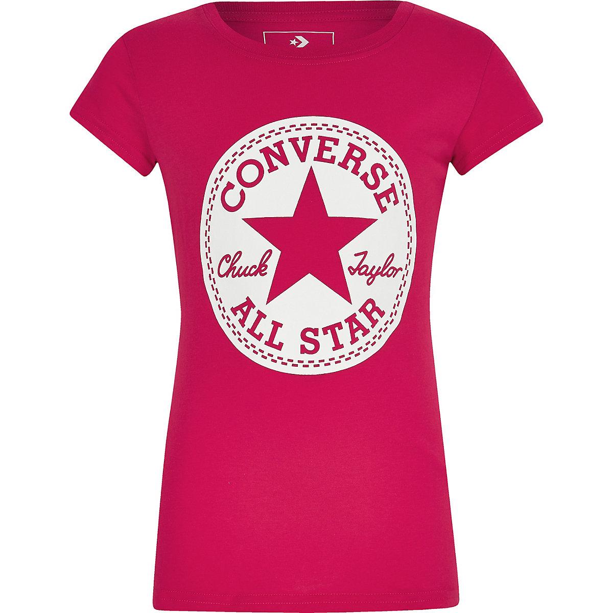 Girls Converse pink 'Chuck Taylor' T-shirt