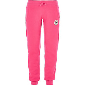 Converse – Pantalon de jogging rose pour fille