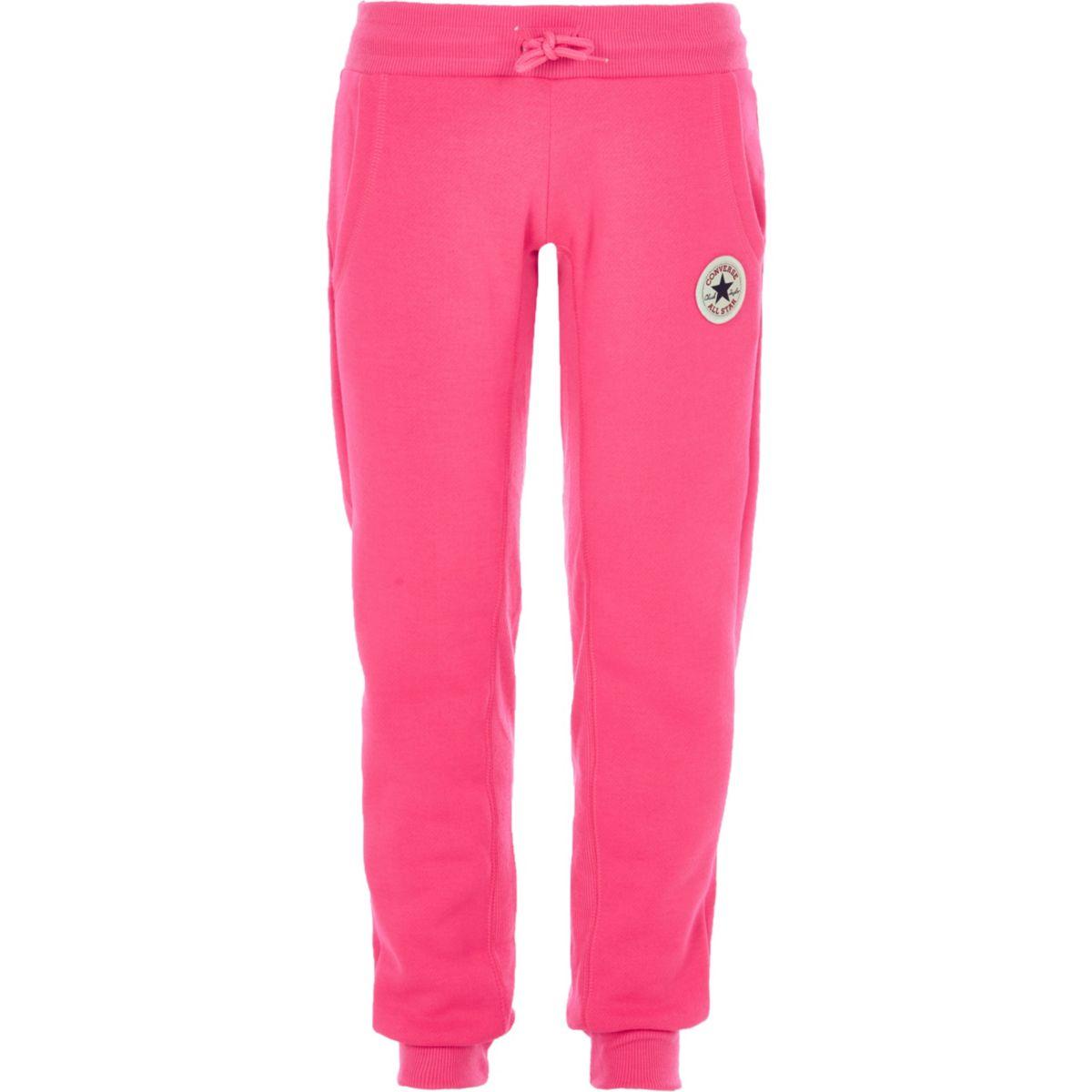 Girls Converse pink joggers