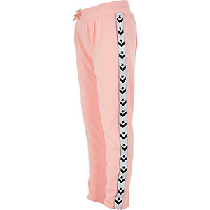 Girls Converse light pink tracksuit bottoms
