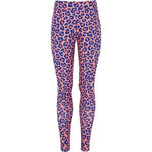 Converse – Pinke Leggings mit Leopardenprint