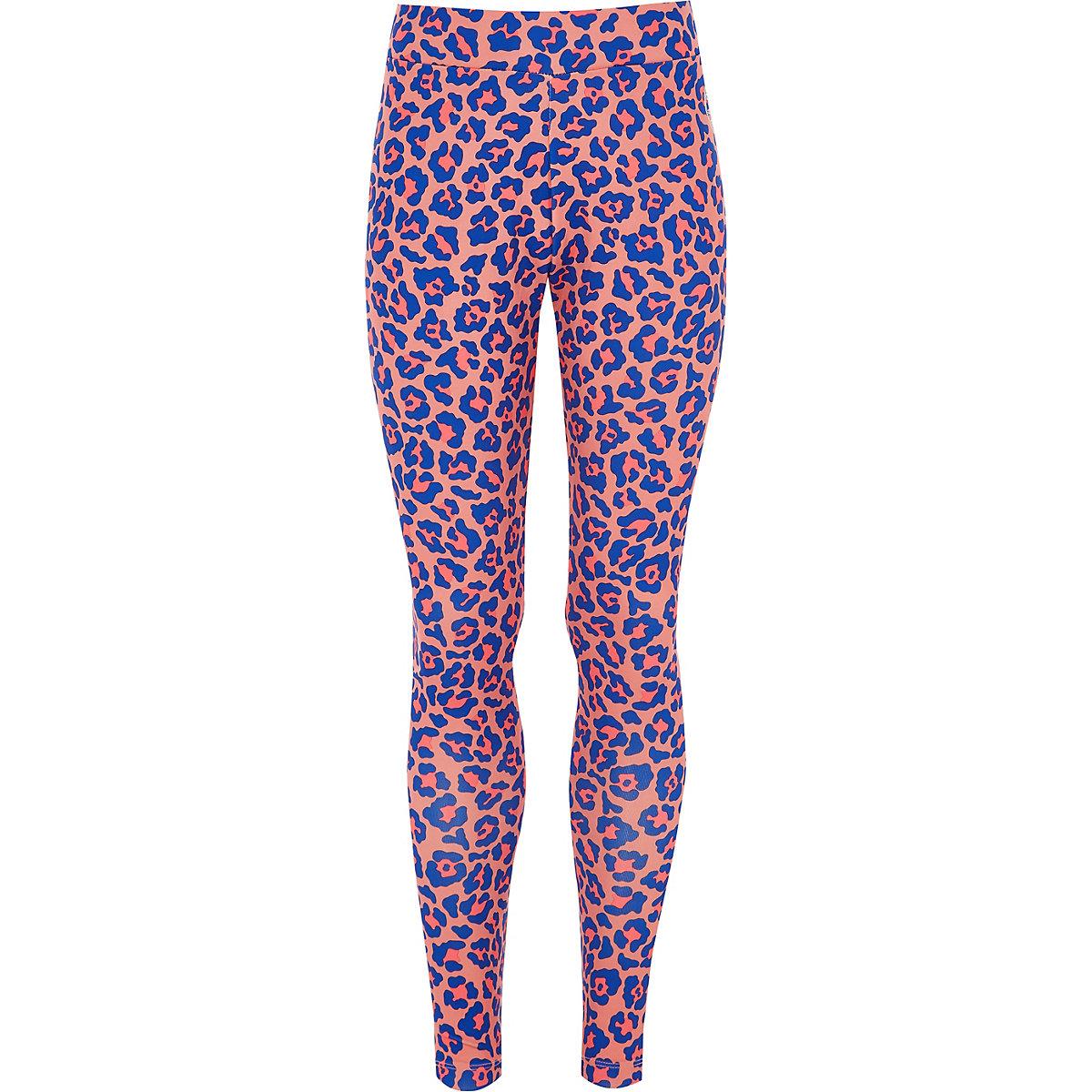 Legging Converse rose à imprimé léopard pour fille