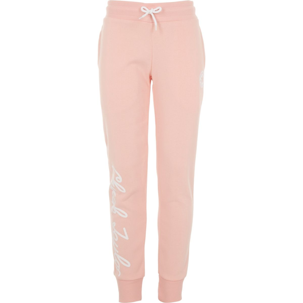 Girls Converse pink 'Chuck Taylor' joggers
