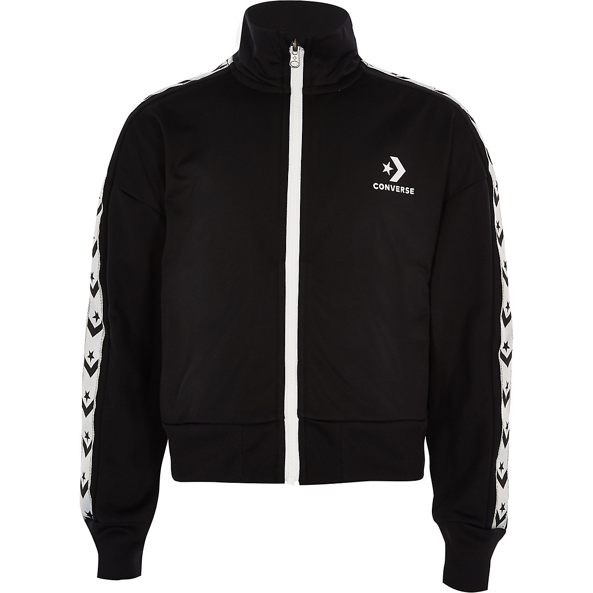 Girls Converse black tracksuit jacket