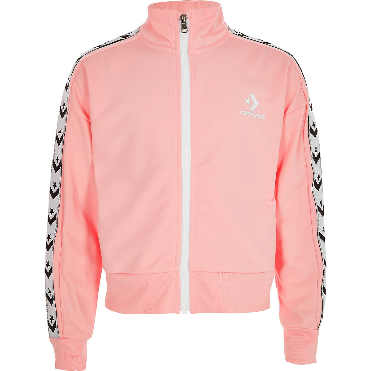 Girls Converse light pink tracksuit jacket