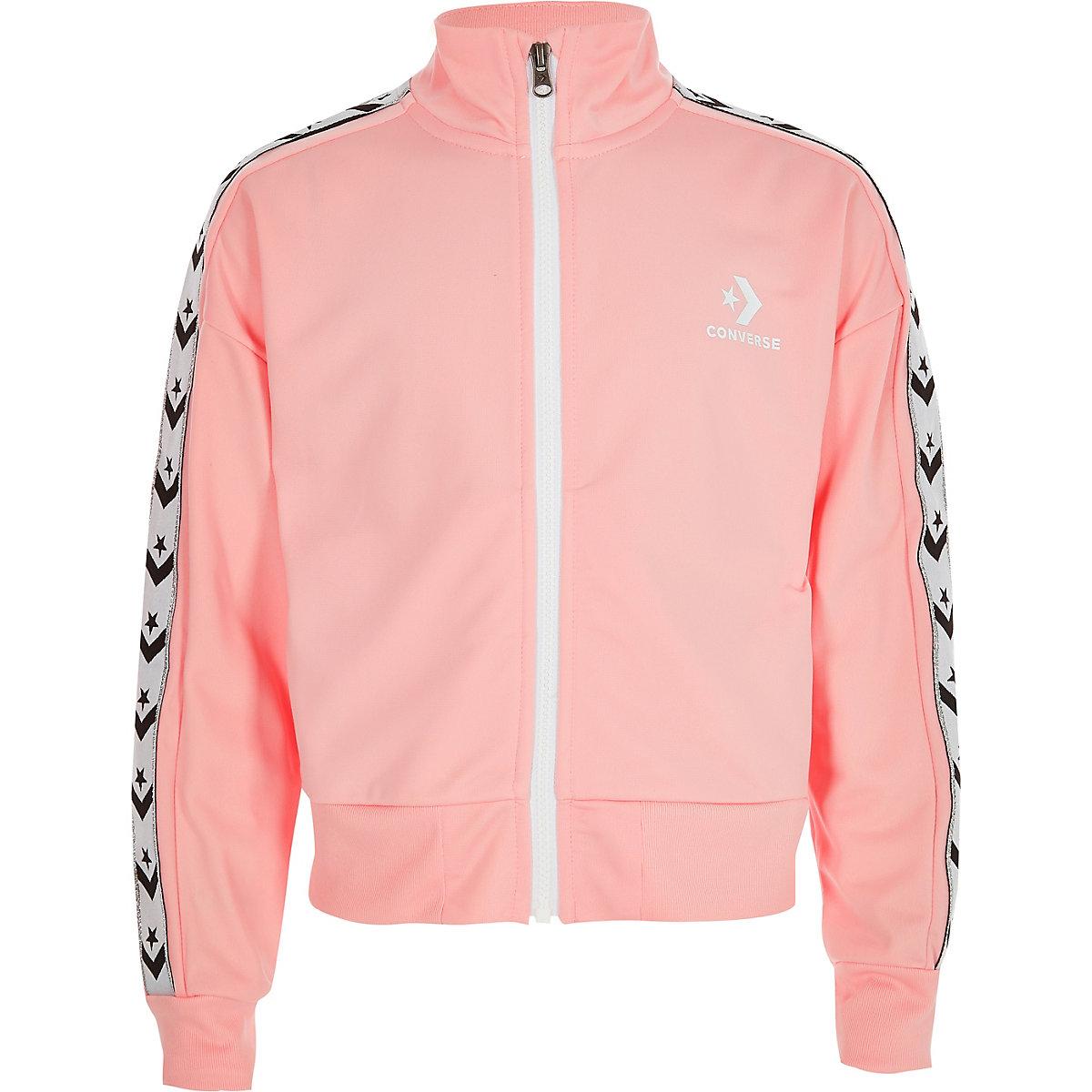 Girls Converse light pink tracksuit jacket