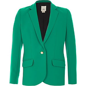 Girls green button-up blazer