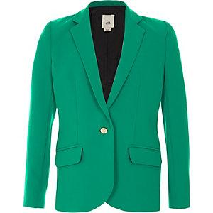 Blazer vert boutonné pour fille