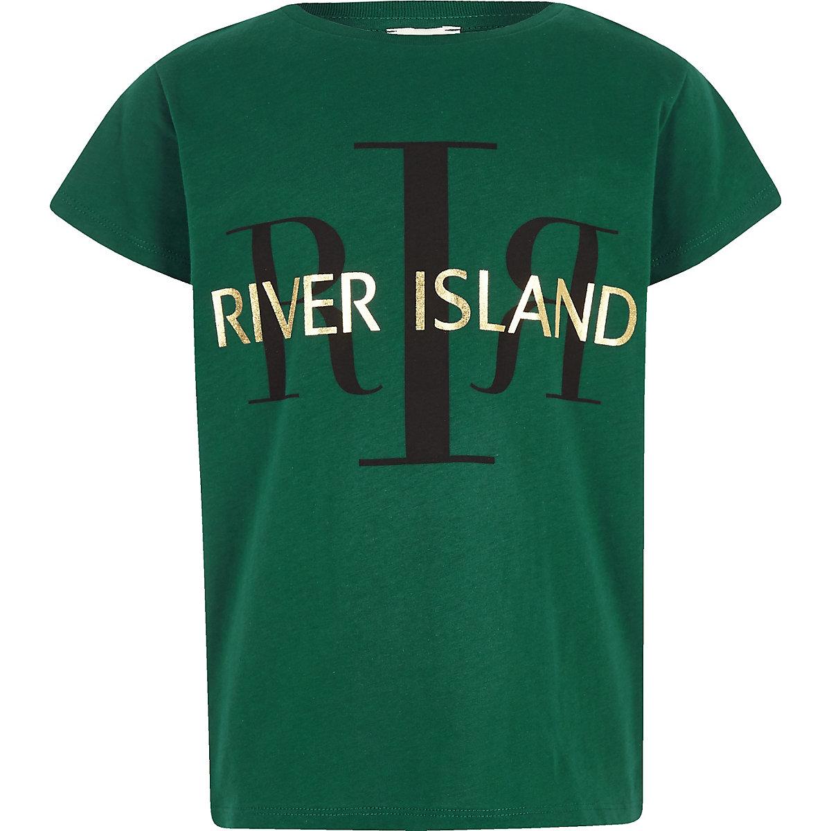 RI 30 girls green RI branded T-shirt